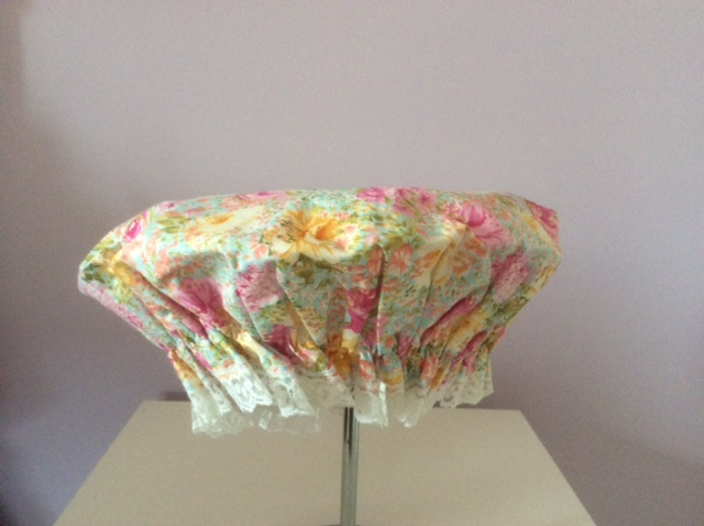 Yellow and Pink Roses shower cap - Click Image to Close